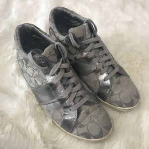 Coach Silver Finch High Top Sneakers
